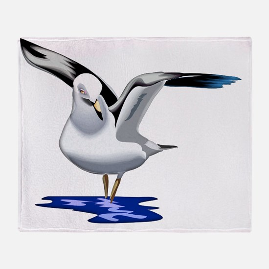 Seagull Liftoff Throw Blanket