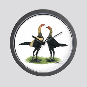 Brown Red Modern Games Wall Clock