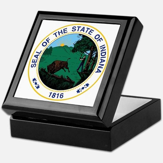 Indiana State Seal Keepsake Box