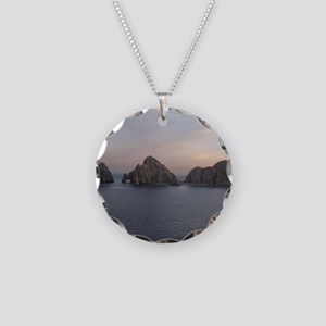 Cabo Sunset Necklace Circle Charm