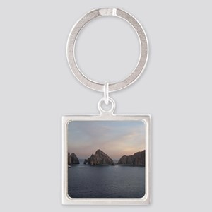 Cabo Sunset Square Keychain