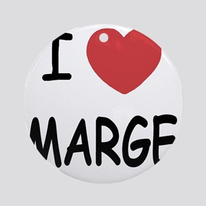 I heart MARGE Round Ornament