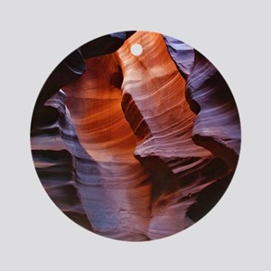 Slot Canyons Round Ornament