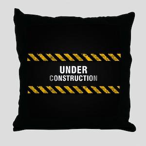 Construction Zone Throw Pillow