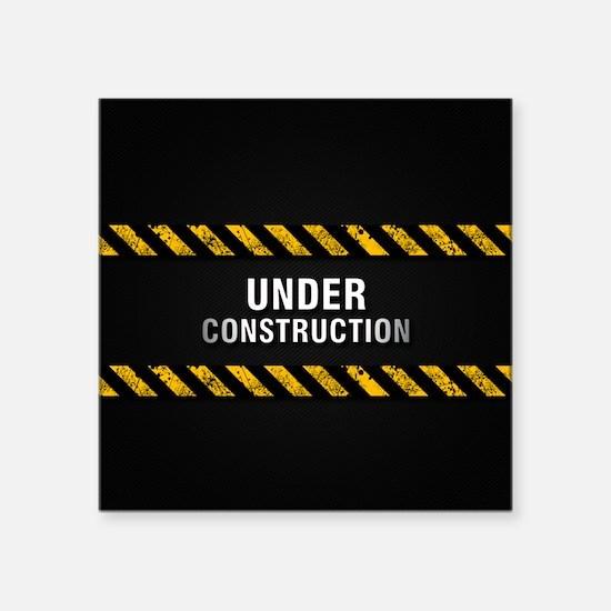 """Construction Zone Square Sticker 3"""" x 3"""""""