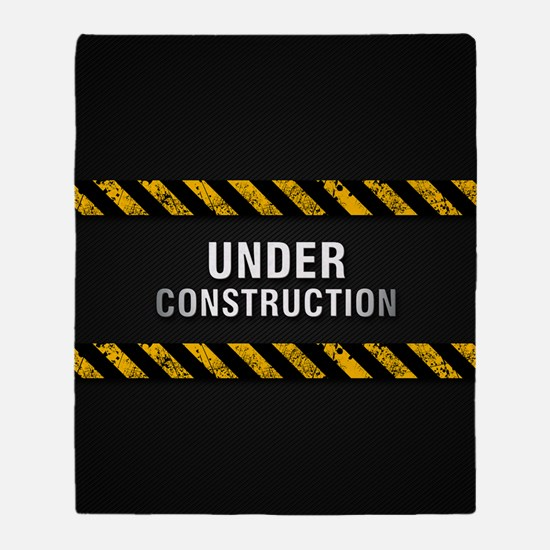 Construction Zone Throw Blanket