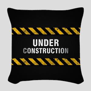 Construction Zone Woven Throw Pillow