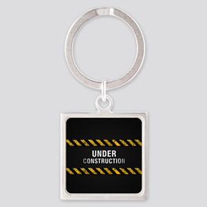 Construction Zone Square Keychain