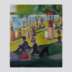 Seurat Throw Blanket