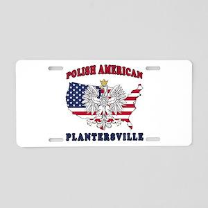 Plantersville Texas Polish Aluminum License Plate