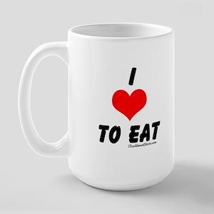 I love to eat Large Mug