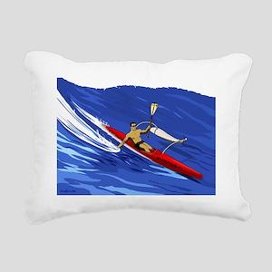 OC1 Paddler Rectangular Canvas Pillow