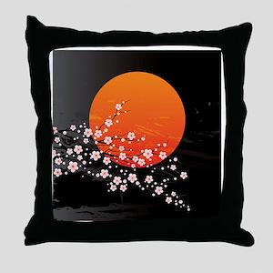 Asian Night Throw Pillow