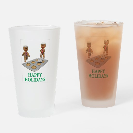 Happy Holidays Drinking Glass