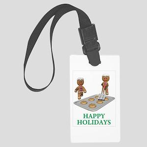 Happy Holidays Large Luggage Tag