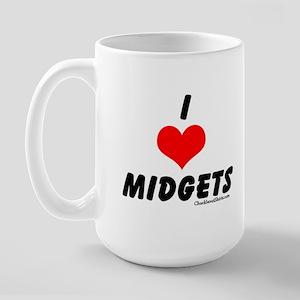 I love midgets Large Mug