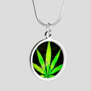 DrkGrungemid Silver Round Necklace