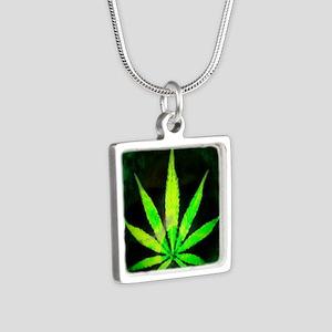 DrkGrungemid Silver Square Necklace