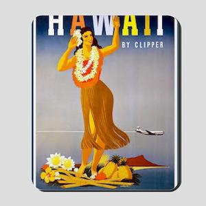 Vintage Chick Hawaii Mousepad