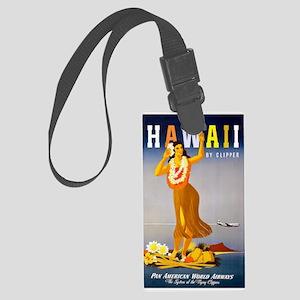 Vintage Chick Hawaii Large Luggage Tag