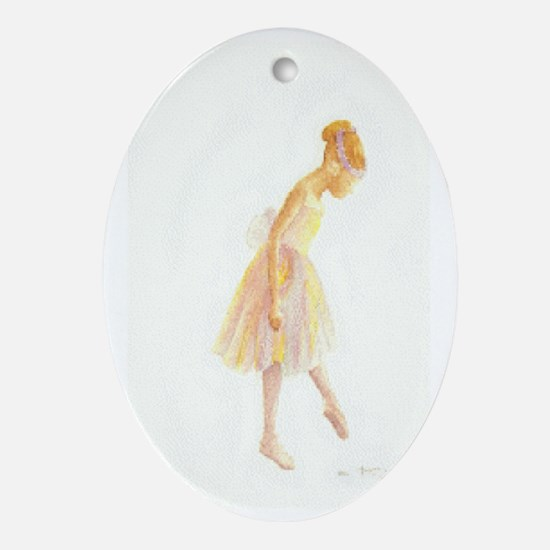 Vintage Chick Little Ballerina Oval Ornament