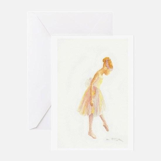 Vintage Chick Little Ballerina Greeting Card
