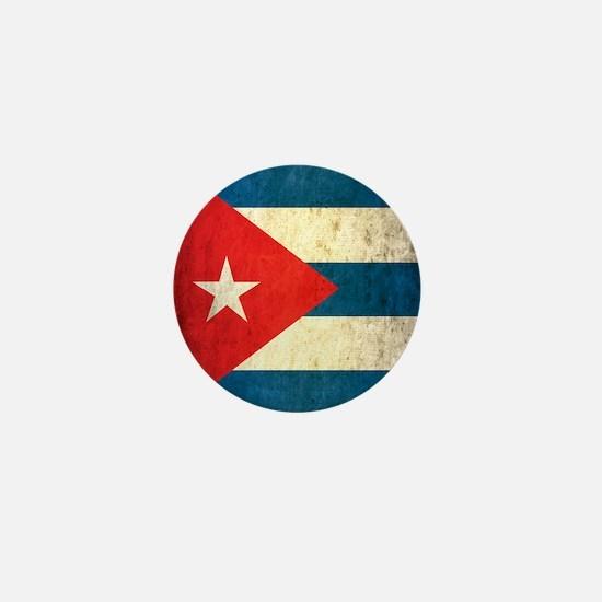 Grunge Cuba Flag Mini Button