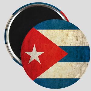 Grunge Cuba Flag Magnet