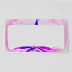 PinkGrunge Wide License Plate Holder