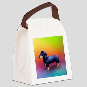 Mini Dachshund Black with Gold Ma Canvas Lunch Bag
