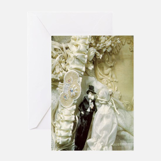Vintage Chick Wedding Greeting Card