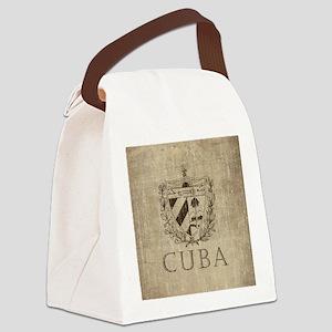 Vintage Cuba Canvas Lunch Bag