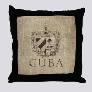 Vintage Cuba Throw Pillow