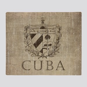 Vintage Cuba Throw Blanket