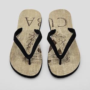 Vintage Cuba Flip Flops