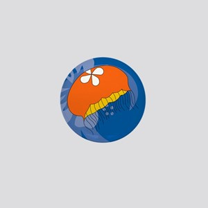 Jellyfish Square Coaster Mini Button