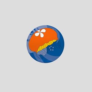 Jellyfish Round Car Magnet Mini Button