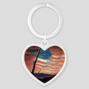 Frederic Edwin Church Heart Keychain