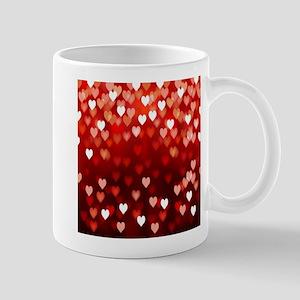 1,2,3,4,5.....hearts Mugs