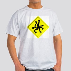CAUTION! Directionally Challenged Light T-Shirt