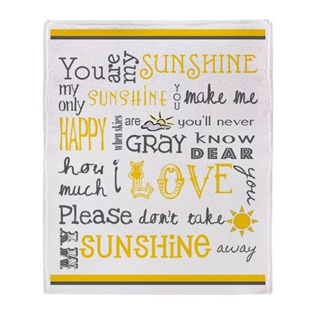 You Are My Sunshine Throw Blanket