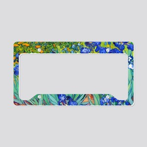 LP VG Irises89 License Plate Holder