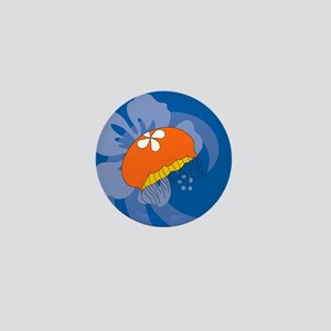 Jellyfish Heart Pet Tag Mini Button