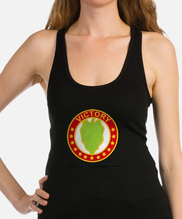 DUI - 24th Infantry Division  w Racerback Tank Top