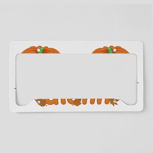 Halloween Pumpkin Glenn License Plate Holder