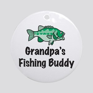 Grandpa's Fishing Buddy Ornament (Round)