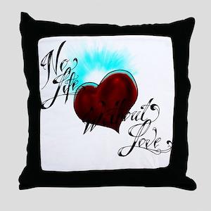 No Life Throw Pillow