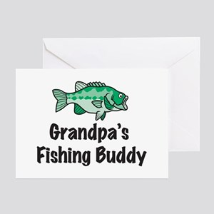 Grandpa's Fishing Buddy Greeting Cards (Package of