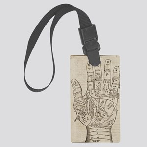 Palmistry Chart Large Luggage Tag