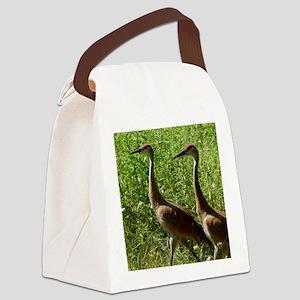 Sandhill Cranes Canvas Lunch Bag